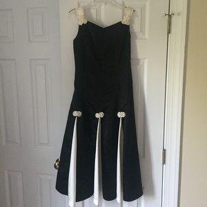 Pleated Girls Formal Dress
